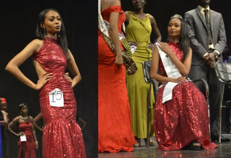 Newly crowned Miss Deaf borrowed clothes to take part in pageant