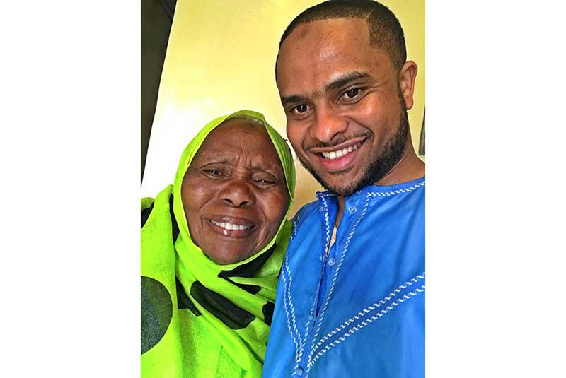 Photos: The hot Jamal Gadaffi makes a surprise visit his grandmother's home in Kitui to celebrate Eid Al Fitr