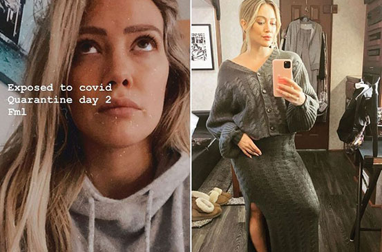 Pregnant Hilary Duff shares concerns as she isolates after exposure to Covid-19