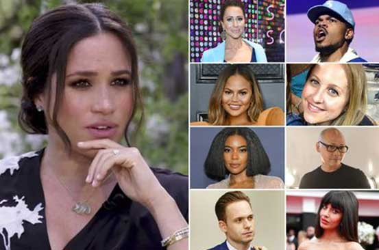Meghan Markle's famous friends publicly throw their support behind her