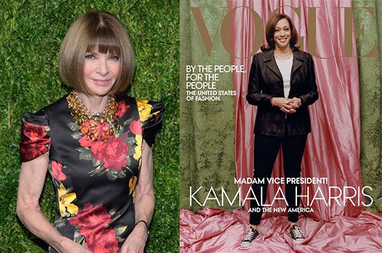 Anna Wintour defends 'disrespectful' Vogue cover showing Kamala Harris in Converse