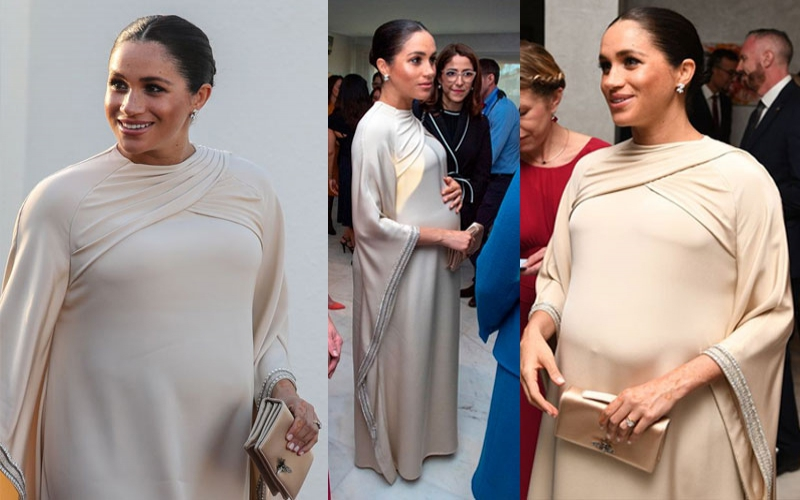 Meghan Markle wore a Sh12m Dior dress to dinner in Morocco