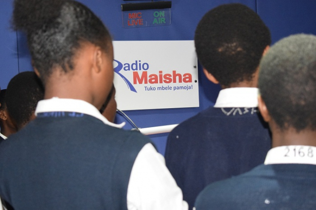 Students at Radio Maisha