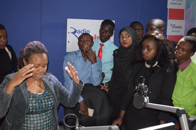 Students at Radio Maisha