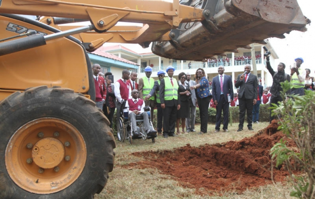 Kenya Re supports Lenana High School accommodate children with disability