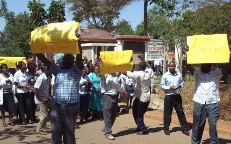 Vihiga health workers demand their two-year pay amid budget crisis