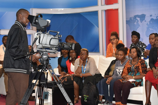 Daystar University & Baraton University students at our KTN News studios.