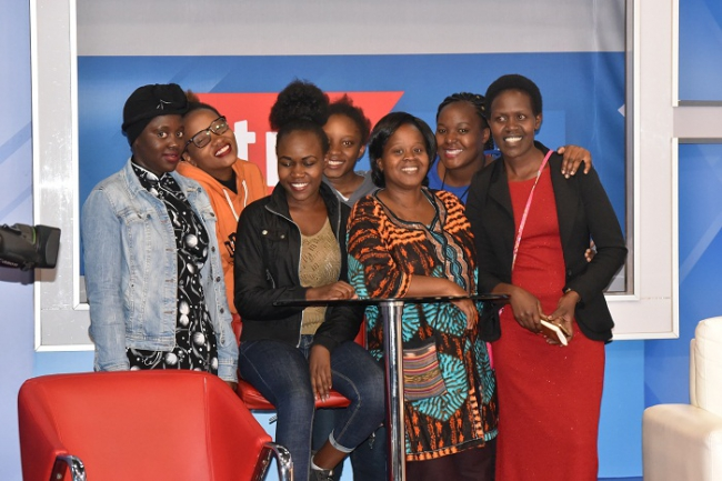 Baraton University students pose for a photo in our KTN studio.