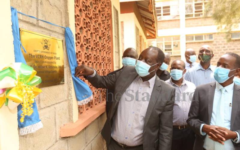 Western counties grappling with oxygen, Covid kits shortage