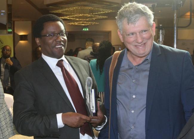 Standard Group Broadcasting Managing Director,Joe Munene (left) with Yariv Kedar,Managing Director KEDAR,Green Agriculture Products
