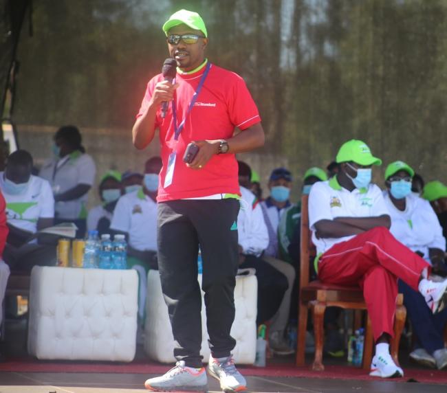 3rd Edition Eldoret City Marathon. Standard Media Group C.E.O Lyomu Orlando during 3rd Edition Eldoret City Marathon  in Uasin Gishu County on Sunday 6 June 2021