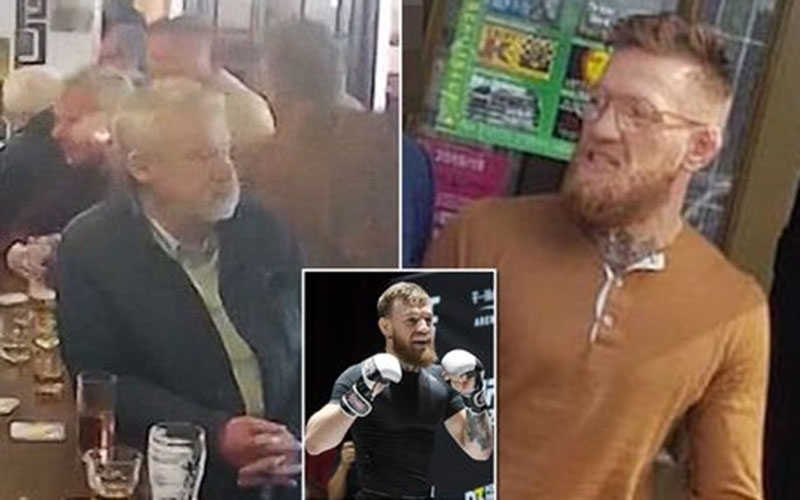 Conor McGregor to be charged  for punching elderly man after declining whiskey shot