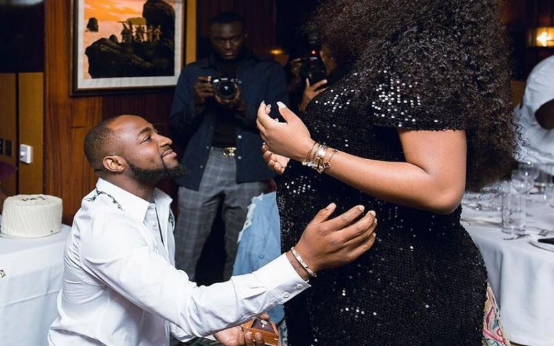 Davido's recently-engaged girlfriend heavy with child