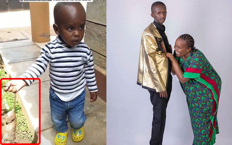 Njugush traps and roasts rat with son to wifes horror