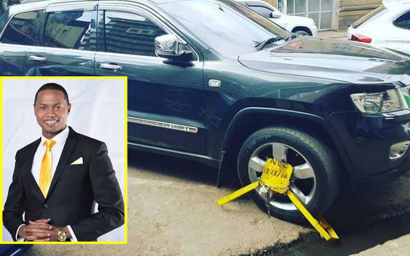Salim Swaleh furious after 'Kanjo' clamp his Jeep Grand Cherokee