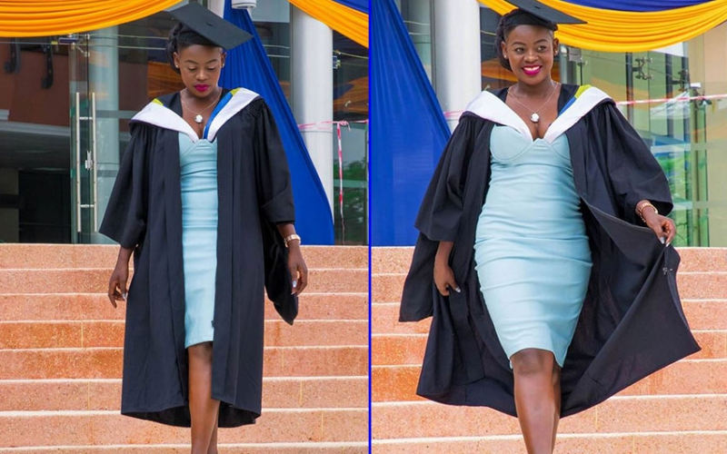 PHOTOS: Akothees message as sister graduates with Master's