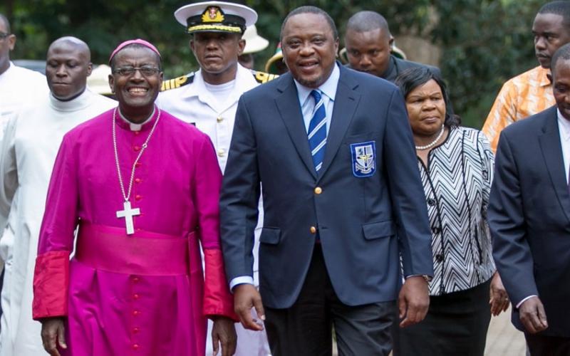 PHOTOS: Uhuru rocks school uniform as St Marys marks eight decades