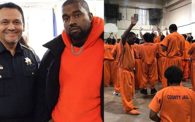 Kanye West moves inmates to tears during prison tour
