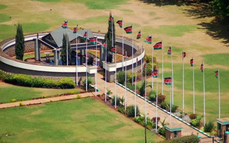 Inside Mzee Jomo Kenyattas mausoleum