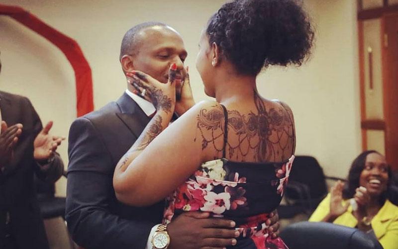 KTN anchor Ben Kitili and Amina Mude celebrate one-year anniversary