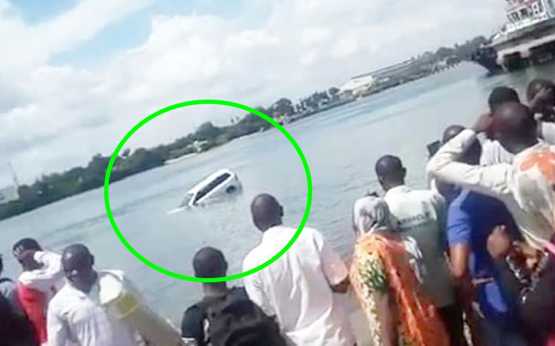 Wreckage of sunken car at Likoni Channel located- Officials