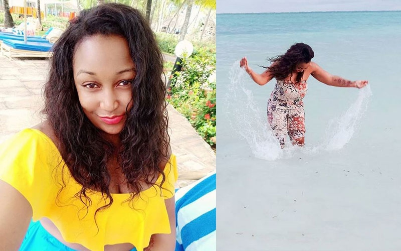 PHOTOS: Betty Kyallo vacations with new bae in Diani