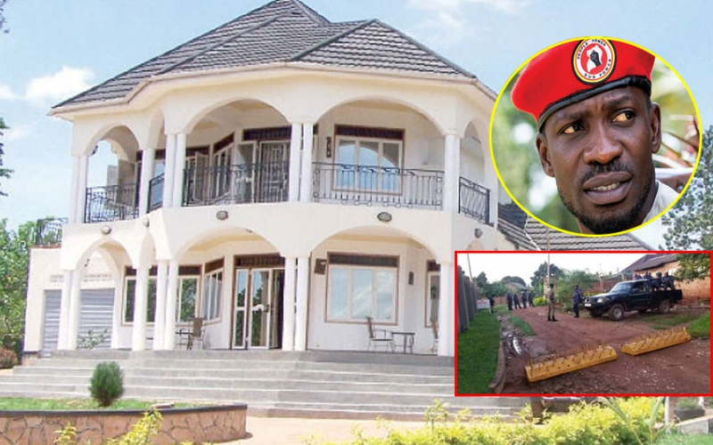 PHOTOS: Bobi Wines 'palace' surrounded by military officers