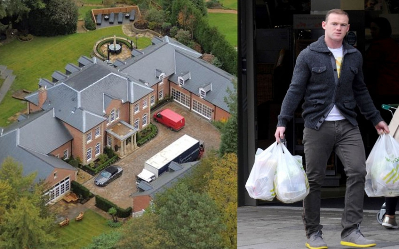 Wayne Rooney's dream home hit by storm, 'partly under water'