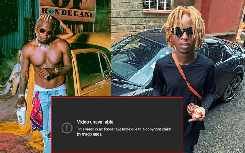 YouTube removes Harmonize's 'Uno' for sampling Magix Enga's beat