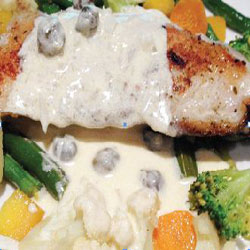 Butter Fish with Amarula Cream Sauce