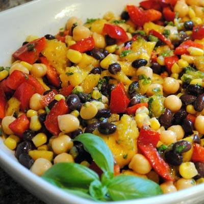 Corn and Black beans salad
