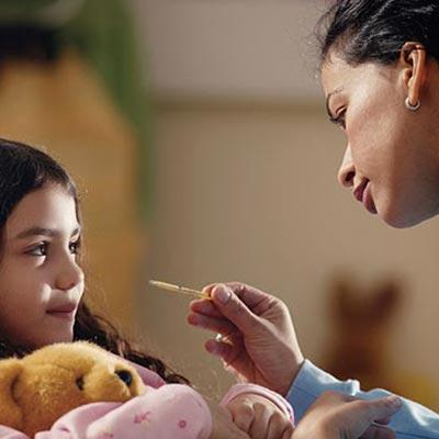 Disciplining a sick child