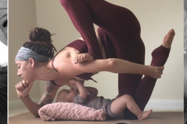 Bendy mum breaks internet as she breastfeeds daughter while balancing in extreme yoga positions