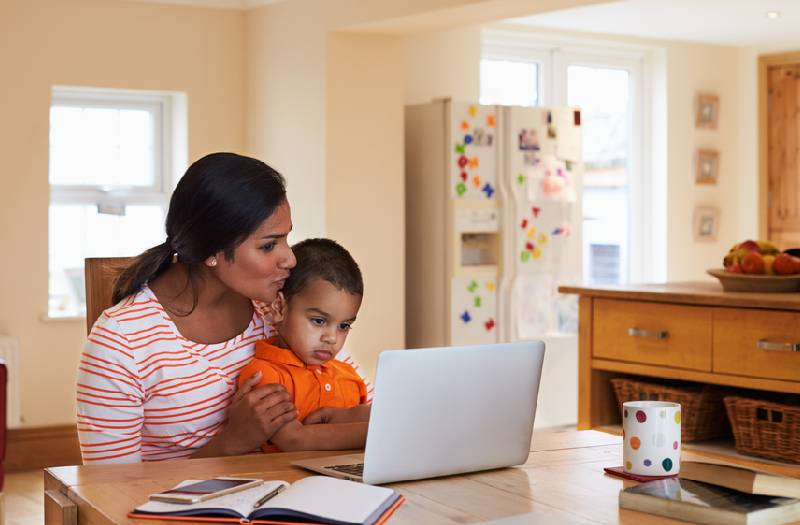 Five ways to juggle work and young kids at home