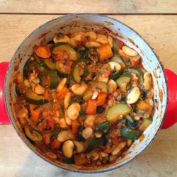 Recipe:How to prepare Vegetable and butter bean stew