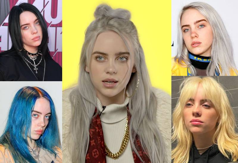Six Billie Eilish's outstanding hair looks