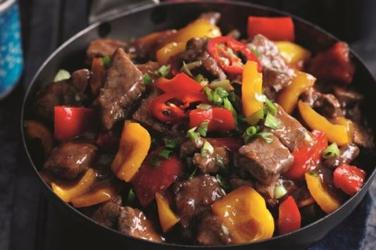 Slimming recipes:  Szechuan beef