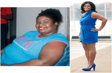 Amazing weight loss of woman who lost 69Kg from 133kg to stop people abusing her in the street