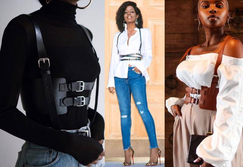 Different ways you can style the harness belt