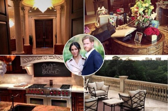 Inside Meghan Markle & Prince Harry's glitzy LA home with crystal chandeliers and hot tub