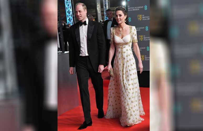 Kate Middleton wows in long white gown as she joins Prince William on BAFTAs red carpet