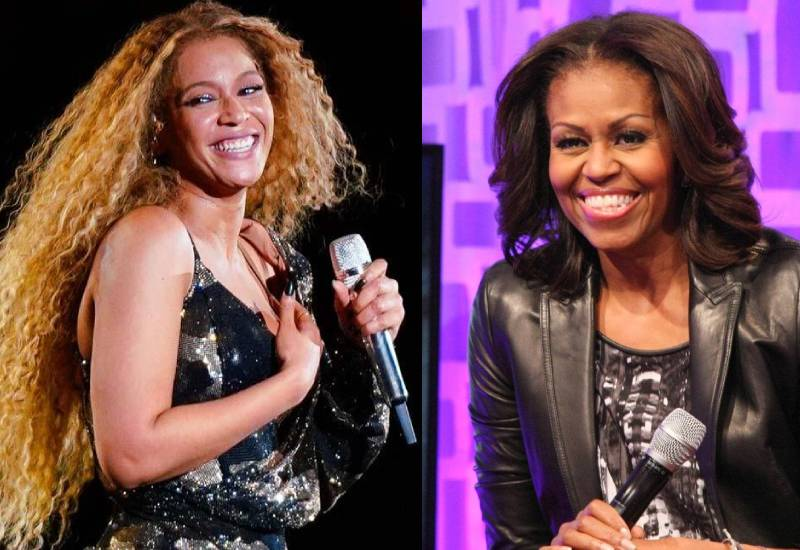 Michelle Obama presents Beyoncé with BET 2020 Humanitarian Award