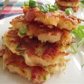 How to prepare Cheesy Potato Pancakes