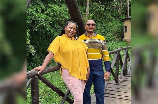 Sarah and Simon Kabu on growing their own vegetables and chicken