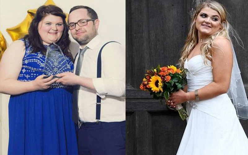 Bride-to-be goes from size 20 to size 10 in just four months