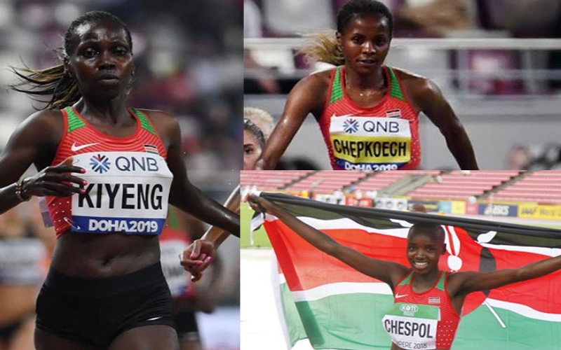 Chepkoech, Kiyeng and Chespol lead tonight's steeplechase final