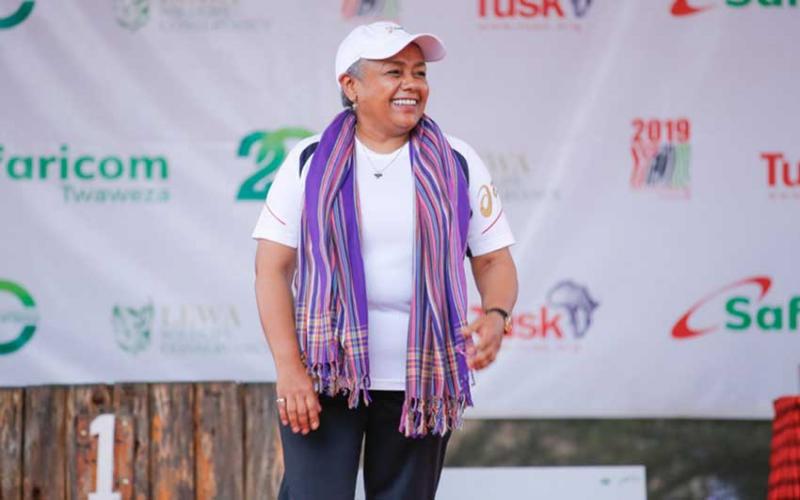 First Lady Margaret Kenyatta joins runners at Safaricom Marathon