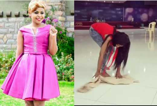 How do you handle your wig when cleaning? Size 8 needs help as sheexcites in her mopping video