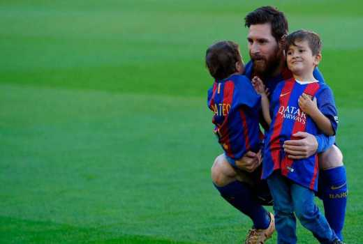 It's a hat-trick for Messi and wife as they welcome newborn son