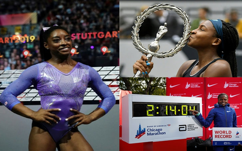 Kosgei, Gauff and Biles: Three female athletes breaking records